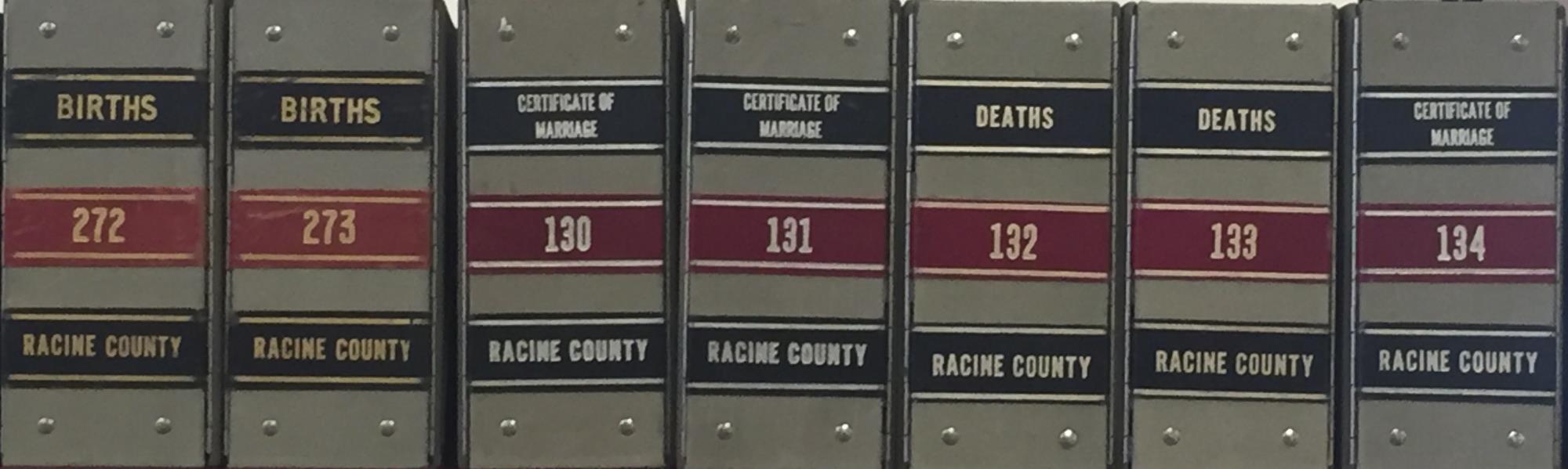 Birth/Marriage/Death/Divorce Certificates | Racine County, WI
