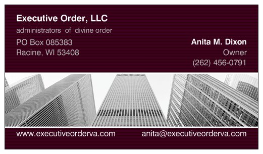 Anita M. Dixon Business Card